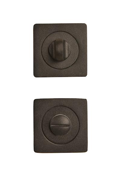 WC-garnituur zwart vierkantig